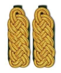 Schultergeflecht - Majorsgeflecht gold grün