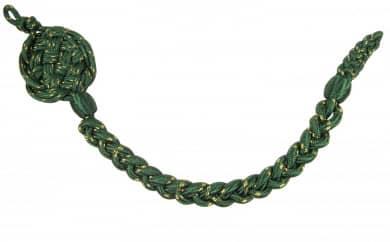 Schützenschnur, Grün mit Goldfaden