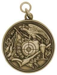 Schützenmedaille 12 altgold