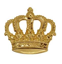 Krone mit Splint gold