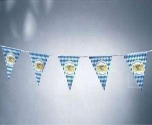 Kunststoff Wimpelkette Bayern, wetterfest