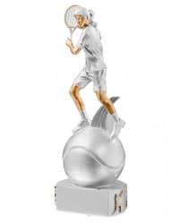 Trophäe Tennisspielerin auf Ball FS72522 silber