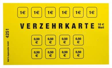 Verzehrkartenblock 10€