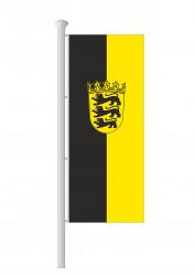 Baden-Württemberg-Hissfahne Hochformat mit Wappen