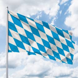Bayern-Flagge ohne Wappen (Raute)