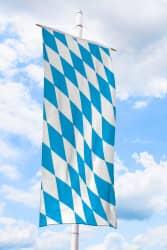 Bayern-Bannerfahne ohne Wappen (Raute)