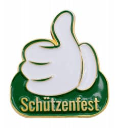 "Thumbs Up Pin ""Schützenfest"""