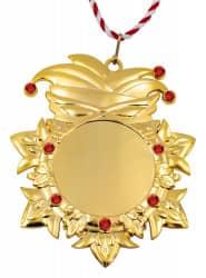 """Karnevalsorden """"Kappe und Maske"""" Gold mit Schmucksteinen"""