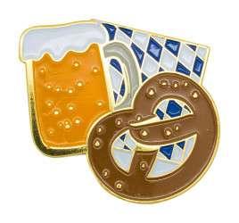 "Oktoberfestpin ""Brezel und Bier"""