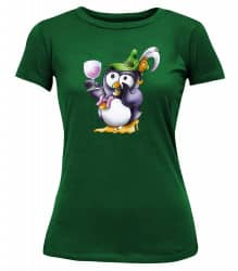 "T-Shirt ""Pinguin Shally"" - Damen Grün 