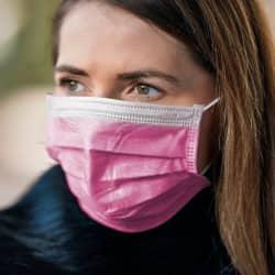 10 Stück Einwegmasken Pink für Nase & Mund mit Ohrschlaufe