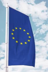 Europa-Fahne für Ausleger Hochformat