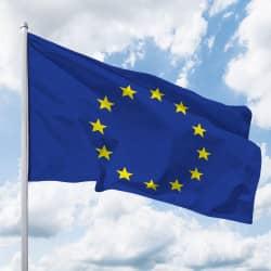 Europa-Flagge Quer