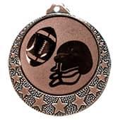 "Football Medaille ""Brixia"" Ø 32mm mit Wunschemblem und Band bronze"