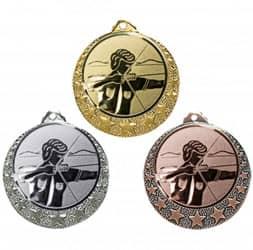 """Bogenschützen Medaille """"Brixia"""" Ø 32mm mit Wunschemblem und Band"""