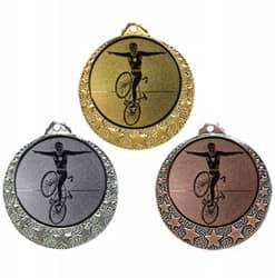 """Radsport Medaille """"Brixia"""" Ø 32mm mit Wunschemblem und Band"""