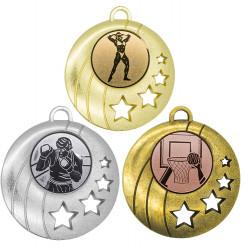 """Medaille """"Gela"""" Ø 50mm mit Wunschemblem und Band"""
