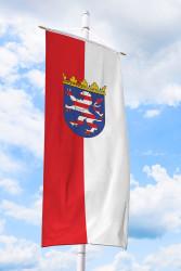 Hessen-Bannerfahne mit Wappen