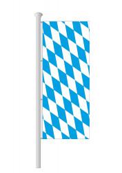 Bayern-Hissfahne Hochformat ohne Wappen (Raute)