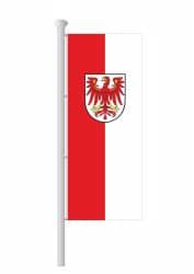 Brandenburg-Hissfahne Hochformat mit Wappen