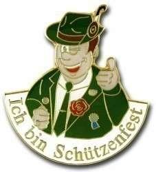 """""""Ich bin Schützenfest"""" - Anstecker"""