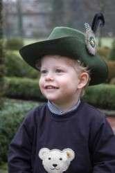Kinder-Schützenhut mittelgrün meliert