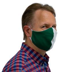 Wiederverwendbare Mund- und Nasenmaske grün-weiß - für Herren