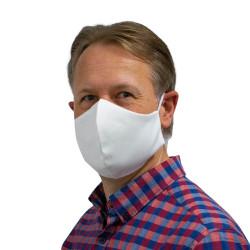 Wiederverwendbare Mund- und Nasenmaske weiß - für Herren