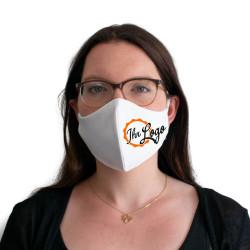 Wiederverwendbare Mund- und Nasenmaske weiß - bedruckbar - für Damen & Kinder
