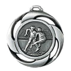 "Medaille ""Football"" Ø 40mm mit Band Silber"
