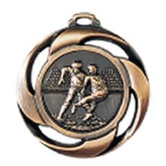 "Medaille ""Football"" Ø 40mm mit Band Bronze"