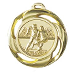 """Medaille """"Football"""" Ø 40mm mit Band Gold"""