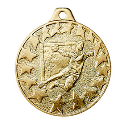 "Medaille ""Handball"" Ø 40mm gold mit Band"