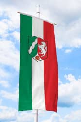NRW Bannerfahne mit Wappen