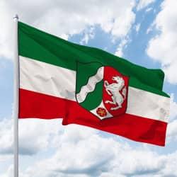 NRW-Flagge mit Wappen