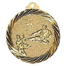 "Medaille ""Karate"" Ø 32mm gold mit Band"