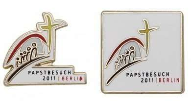 """Pins Hartemaille """"Papstbesuch"""""""