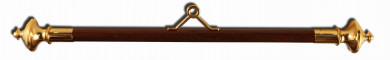Querstange Holz 60mm 90cm   Messing poliert