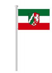 NRW-Hissflagge Quer mit Wappen