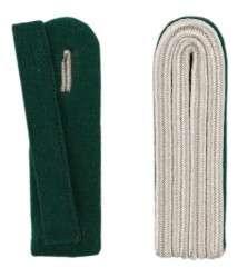 4-streifige Schulterstücke in silber grün