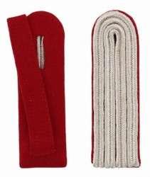 4-streifige Schulterstücke in silber rot