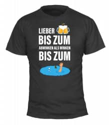 "T-Shirt ""Absaufen""-bunt - Herren"