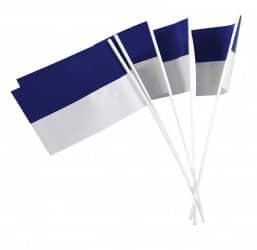Papierfähnchen blau/weiß
