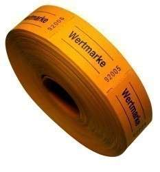 """Rollenbons """"Wertmarke"""" 1000 Abrisse orange"""
