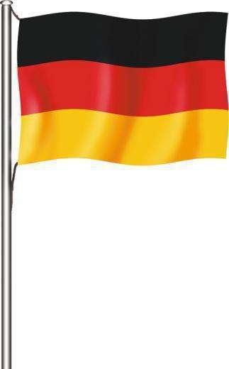 Deutschlandflagge - Hissfahne quer