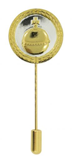 Anstecknadel Reichsapfel Silber-Gold