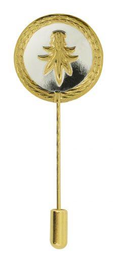 Anstecknadel Pfänder-Schwanz Silber-Gold