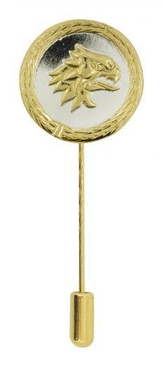 Anstecknadel Pfänder-Kopf Silber-Gold