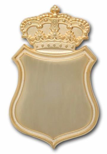 Königsnadel - Broschennadel mit Krone vergoldet