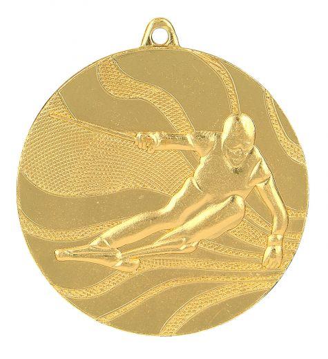 Medaille Ski Ø 50mm mit Band